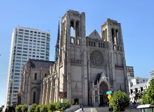 Grace Cathedral San Francisco stock image