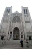 Grace Cathedral, San Francisco, de V.S. stock afbeelding