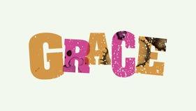 Grace Concept Stamped Word Art-Illustratie stock illustratie
