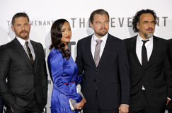 Grace Dove, Alejandro Gonzalez Inarritu, Leonardo DiCaprio and Tom Hardy Royalty Free Stock Photos