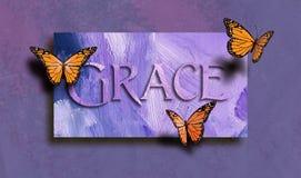Grace e borboletas livres Imagens de Stock Royalty Free