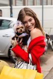 Grace Elisabeth di modello che posa alla settimana di modo del ` s di Milan Women Fotografie Stock Libere da Diritti