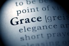 Grace. Fake Dictionary, Dictionary definition of the word Grace stock photo