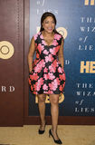 Grace Hightower. Former model and wife of Robert DeNiro, Grace Hightower, arrives for the New York City premiere of HBO`s film, `The Wizard of Lies,` at the Royalty Free Stock Images
