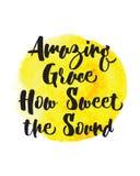Grace How Sweet de surpresa o som ilustração do vetor
