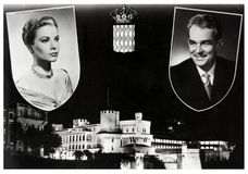 Grace Kelly en Rainier III stock fotografie