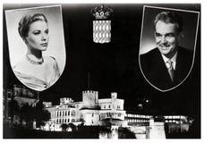 Grace Kelly y Rainier III fotografía de archivo