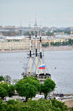 Grace sailboat in Saint Petersburg,  Russia Stock Photo