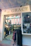 Grace shop in hong kong. Grace shop, located in Tsim Sha Tsim, Hong Kong. grace shop is a clothes retailer in Hong Kong Stock Photo
