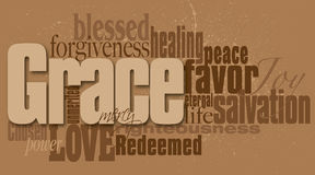 Grace word graphic montage Royalty Free Stock Photography