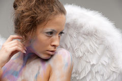 Graceful angel with wings Stock Photography