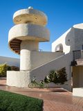 Exterior stairway, modern Southwest architecture Royalty Free Stock Images