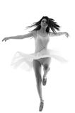 Graceful ballerina dancing en pointe royalty free stock image