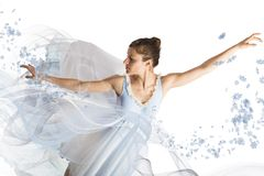 Graceful ballerina Royalty Free Stock Images