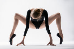 Graceful ballerina make stretching Stock Images