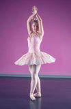Graceful ballerina standing in fifth position Royalty Free Stock Photo