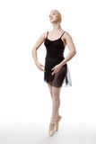 Graceful ballerina in studio Stock Photo