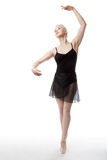 Graceful ballerina in studio Royalty Free Stock Photo