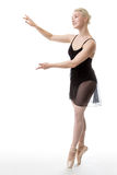 Graceful ballerina in studio Stock Photography