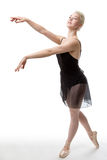 Graceful ballerina in studio Royalty Free Stock Image