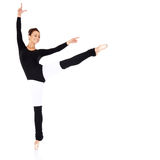 Graceful ballerina training Royalty Free Stock Photos
