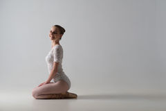 Graceful ballet dancer sitting Royalty Free Stock Photos