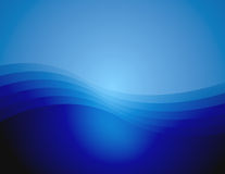 Graceful Blue Wave Background (fondoX5a). A computer generated background of a graceful wave in varying shades of blue Vector Illustration
