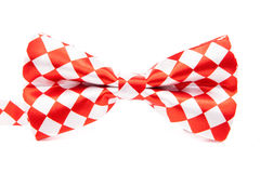 Graceful bow tie red white box Stock Images