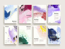 Graceful brochure template Royalty Free Stock Image