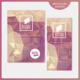 Graceful brochure template design set Stock Images
