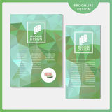 Graceful brochure template design set Stock Photos