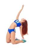 Graceful brunette doing pilates exercise Royalty Free Stock Photo