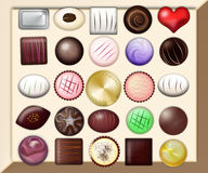 Graceful chocolates vector illustration