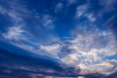 Graceful clouds. Stock Images