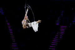 Graceful dance performed on the aerial ring Stock Photography