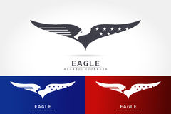 Graceful eagle silhouette logo Stock Photo