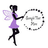 Graceful Fairy With A Magic Wand Stock Photography