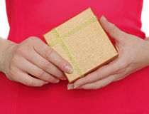 Graceful female hands holding gift box Royalty Free Stock Photography