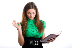 Graceful female student Royalty Free Stock Images