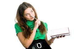 Graceful female student Royalty Free Stock Photos