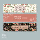 Graceful floral banner template design Royalty Free Stock Image