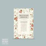 Graceful floral brochure template design Stock Photos