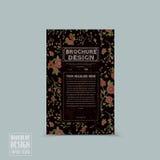 Graceful floral brochure template design Royalty Free Stock Image
