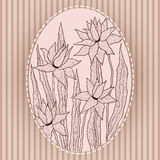 Graceful flowers in vintage frame Royalty Free Stock Photos