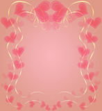 Graceful Frame with  Hearts to Valentine Day Stock Photos