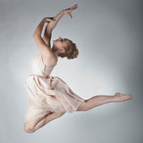 Graceful girl. Graceful beautiful dancer in motion Stock Photos