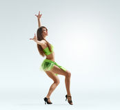 Graceful girl dance point Royalty Free Stock Photography