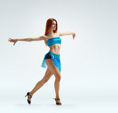 Graceful girl dance Stock Images