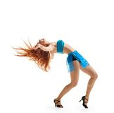 Graceful girl dance Royalty Free Stock Image