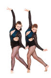 Graceful gymnasts dancing Royalty Free Stock Photography